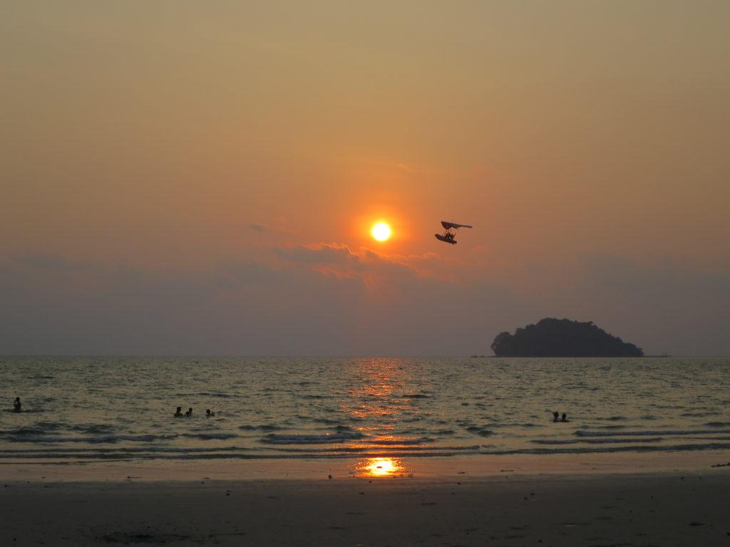 Sonnenuntergang am Otres 2
