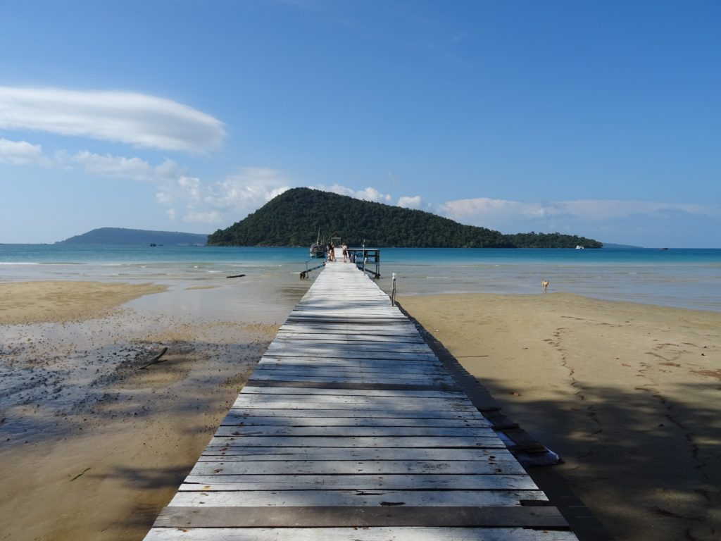 Pier am Eco Retreat Bungalows in Koh Rong Samloem