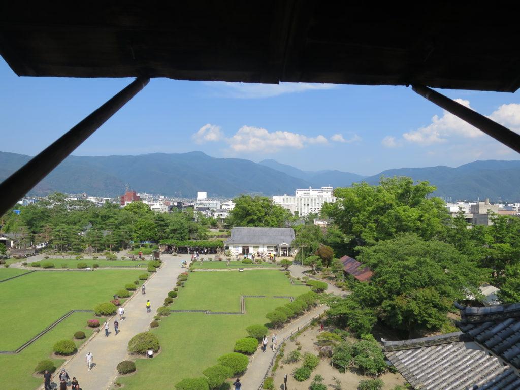 Ausblick von Matsumoto Castle