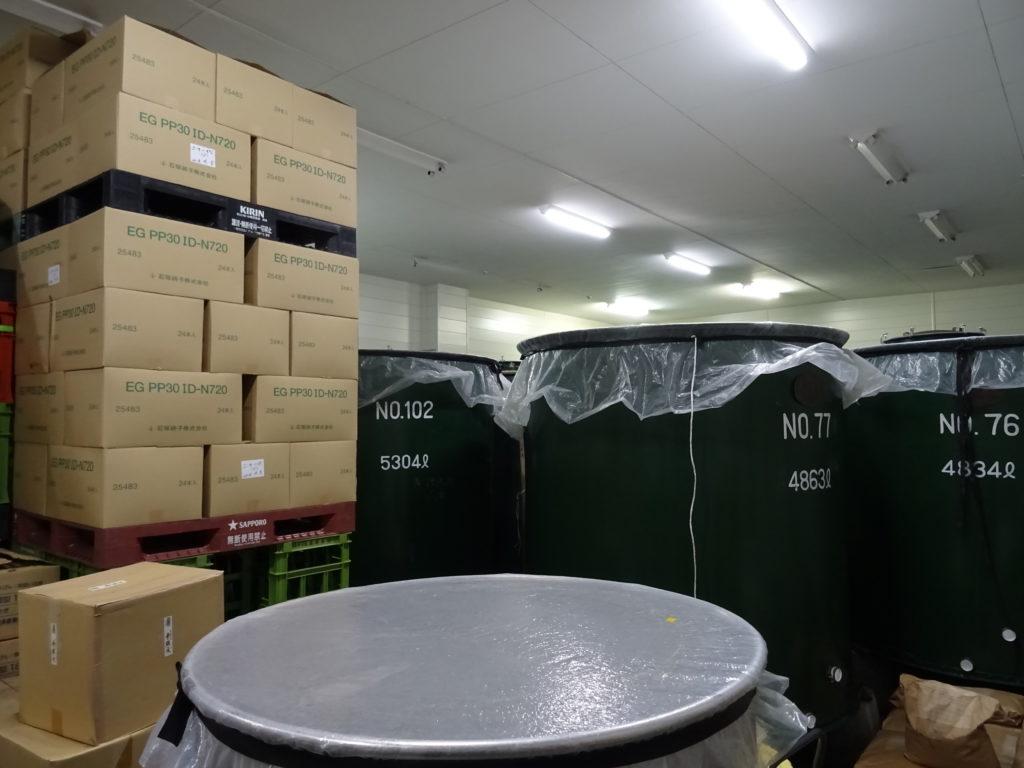 Fuehrung durch die Ide Sake Brewery in Fujikawaguchiko