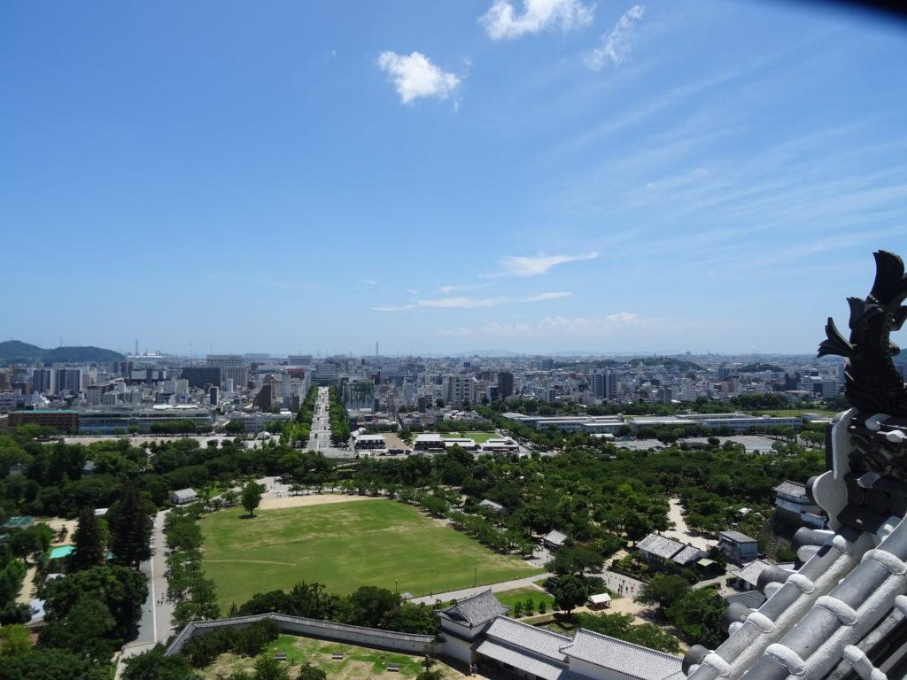 Ausblick von der Burg Himeji