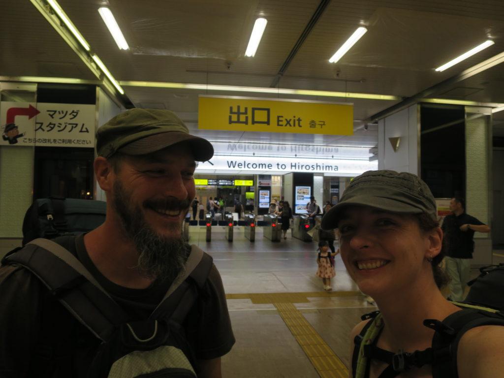Ankunft am Bahnhof Hiroshima