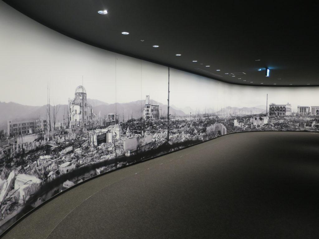 Wandbild im Peace Memorial Museum in Hiroshima