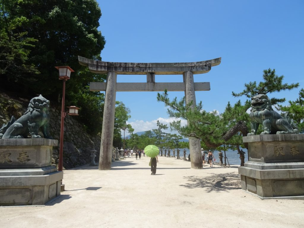 Landeingang zum Itsukushima Schrein Miyajima