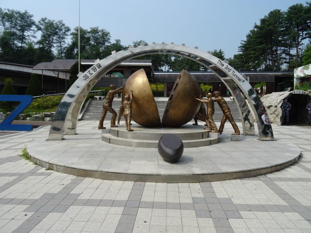 Denkmal am 3. Tunnel in der Koreanischen DMZ